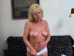Horny granny loves big cock