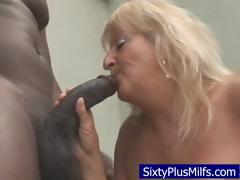 Dirty old granny sucking  a..