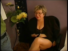 BBW Granny Teacher Fucks..