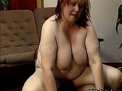 Dirty fat housewife having..