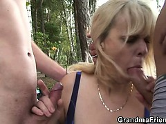 Granny is double fucked near..