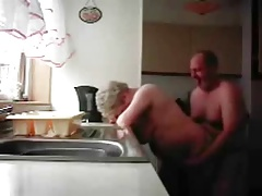 Hidden cam. Mum and dad home..
