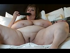 BBW is fat bald pussy with..