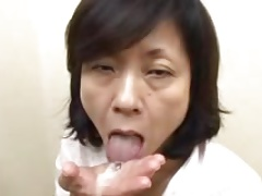 Japanese Mom Sucks Swallows..