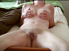 Ms Delish mature hairy pussy
